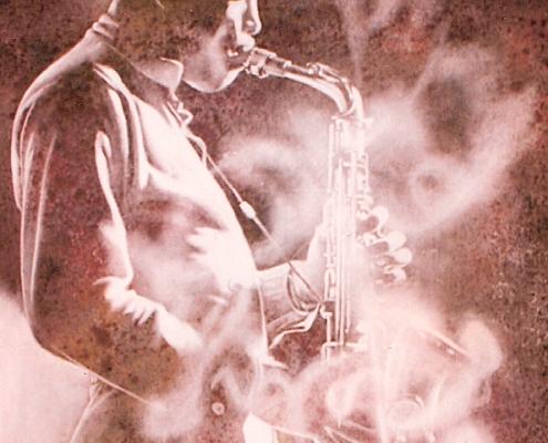 Grande toile peinte pour un concert de Jazz lors de l'anniversaire de TF1 / France - Alain Grand Peintre décorateur