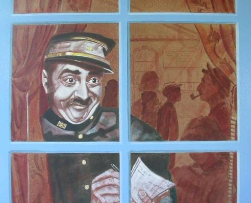 Commande pour le Musée de la gare de Mornac sur Seudre / France - Alain Grand Peintre décorateur
