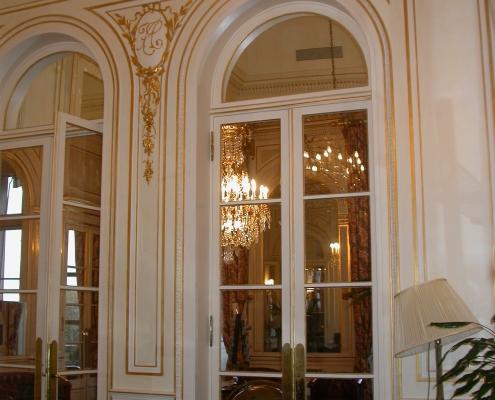 Restauration de dorures , filets à la feuille et patines Paris / France - Alain Grand Peintre décorateur