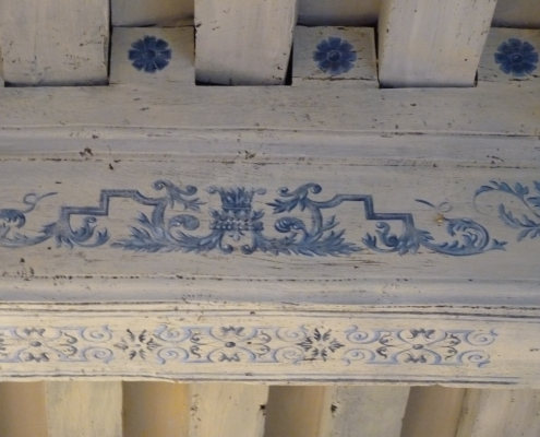 Détail d'un plafond peint à l'ancienne Paris / France - Alain Grand Peintre décorateur