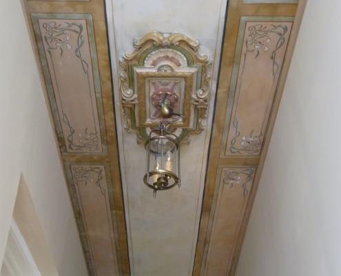 Restauration d'un plafond ancien - Particulier / France - Alain Grand Peintre décorateur
