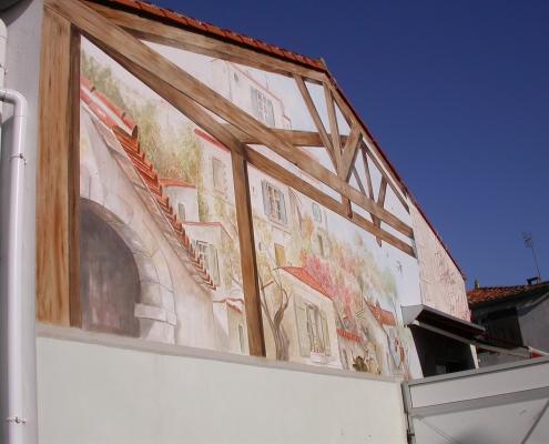 Détail façade 2 boucherie Max / France - Alain Grand Peintre décorateur