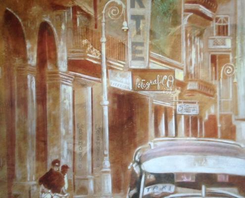 Fresque interieure /Scènes cubaines sur panneaux peints Saint-Malo /France - Alain Grand Peintre décorateur