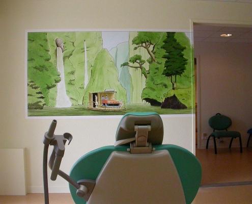 Images de BD pintes chez un dentiste / France - Alain Grand Peintre décorateur - Alain Grand Peintre décorateur