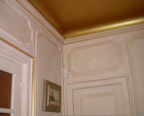 Réalisation d'un plafond peint doré - Alain Grand Peintre décorateur